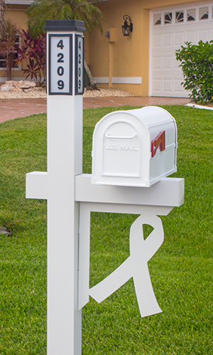 Decorative Mailbox Bracket - Support Ribbon