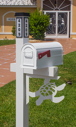 Decorative Mailbox Bracket - Turtle