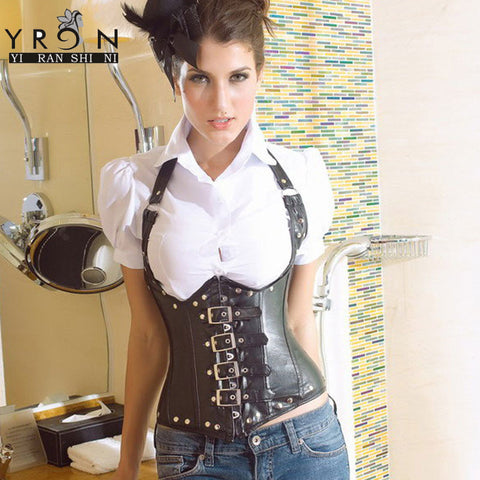 Bustier Cuir Synthetique