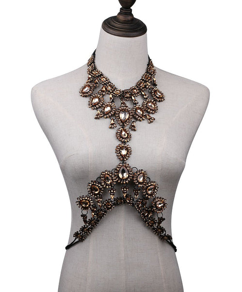 Collier bustier cristal