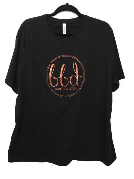BBD T-Shirt | Black/Copper Relaxed Fit Ladies Tee