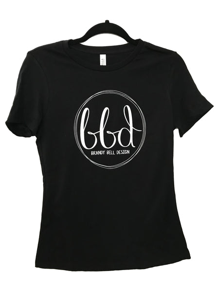 BBD T-Shirt | Black/White Relaxed Fit Ladies Tee