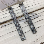 LUCILLE - Leather Earrings  ||  GRAY/WHITE STINGRAY