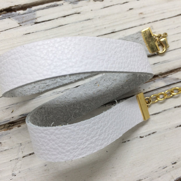 ANGEL - WRAP BRACELET / CHOKER NECKLACE - handmade by Brandy Bell Design ||  MATTE WHITE