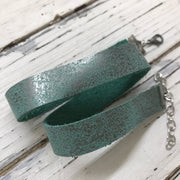 ANGEL - WRAP BRACELET / CHOKER NECKLACE - handmade by Brandy Bell Design ||  DISTRESSED AQUA WITH SILVER