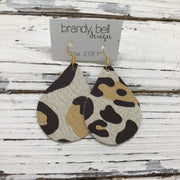 ZOEY (3 sizes available!) -  Leather Earrings  ||  LARGE SCALE CHEETAH