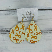 ZOEY (3 sizes available!) -  Leather Earrings  ||   YELLOW RIBBON (FAUX LEATHER)