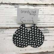 ZOEY (3 sizes available!) - Leather Earrings  ||  BLACK & WHITE MATTE MERMAID