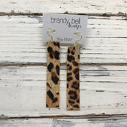 FINN - Leather Earrings  ||  CHEETAH/LEOPARD PRINT