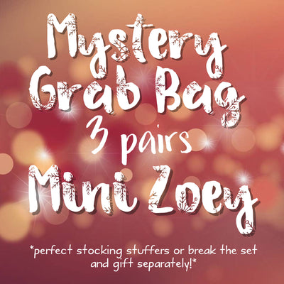 3pk MYSTERY GRAB BAGS! <br>  Leather Earrings <br> *MINI ZOEY*