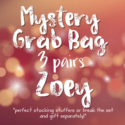 3pk MYSTERY GRAB BAGS! <br>  Leather Earrings <br> *ZOEY*