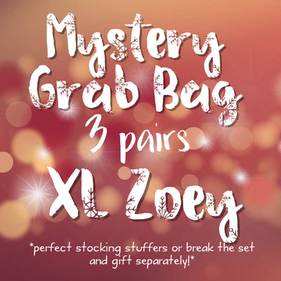 3pk MYSTERY GRAB BAGS! <br>  Leather Earrings <br> *XL ZOEY*