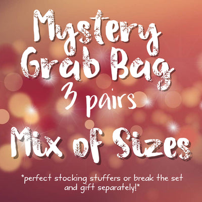 3pk MYSTERY GRAB BAGS! <br>  Leather Earrings <br> *MIX OF SIZES: 1 MINI, 1 ZOEY, 1 XL*