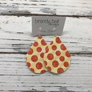 ZOEY (3 sizes available!) - FAUX Leather Earrings (Not real leather) WITH FELT BACK  ||  BASKETBALLS