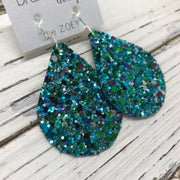 ZOEY (3 sizes available!) - GLITTER Earrings (Not real leather)   ||  UNDER THE SEA
