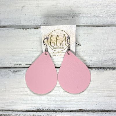 ZOEY (3 sizes available!) -  Leather Earrings  ||  <BR>  PALE PINK  (FAUX LEATHER)