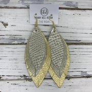 INDIA - Leather Earrings  ||   METALLIC CHAMPAGNE COBRA, SHIMMER GOLD, METALLIC GOLD PEBBLED