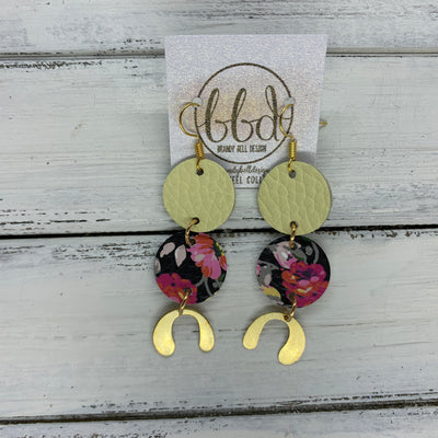 SUEDE + STEEL *Limited Edition* COLLECTION || <BR> MATTE LIGHT YELLOW, <BR> PINK FLORAL ON BLACK, <BR> GOLD BRASS U-SHAPE