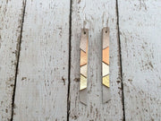 AUDREY - Leather Earrings  || shimmer rose gold, metallic copper, metallic champagne, metallic gold, shimmer silver