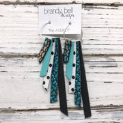 AUDREY - Leather Earrings  || METALLIC ANTIQUE MERMAID, MATTE ROBINS EGG BLUE, WHITE WITH BLACK POLKA DOTS, METALLIC TURQUOISE, MATTE BLACK