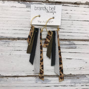 AUDREY - Leather Earrings  || CHEETAH PRINT, SHIMMER ANTIQUE GOLD, MATTE BLACK, SHIMMER ROSE GOLD, CHEETAH