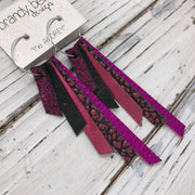 AUDREY - Leather Earrings  || SHIMMER MAGENTA, SHIMMER BLACK, METALLIC PINK, METALLIC PINK BISON, METALLIC NEON PINK
