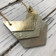 EMERSON - Leather Necklace  ||  METALLIC GOLD, SHIMMER GOLD, METALLIC CHAMPAGNE