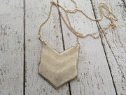 EMERSON - Leather Necklace  || SHIMMER SILVER, SHIMMER ROSE GOLD, SHIMMER GOLD