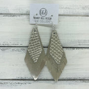 COLLEEN -  Leather Earrings  ||   METALLIC CHAMPAGNE COBRA, SHIMMER GOLD, METALLIC CHAMPAGNE SMOOTH