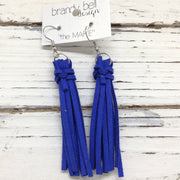 MARIE - Faux Suede Tassel Earrings  || ELECTRIC COBALT BLUE
