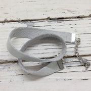 ANGEL - WRAP BRACELET / CHOKER NECKLACE - handmade by Brandy Bell Design || SHIMMER SILVER