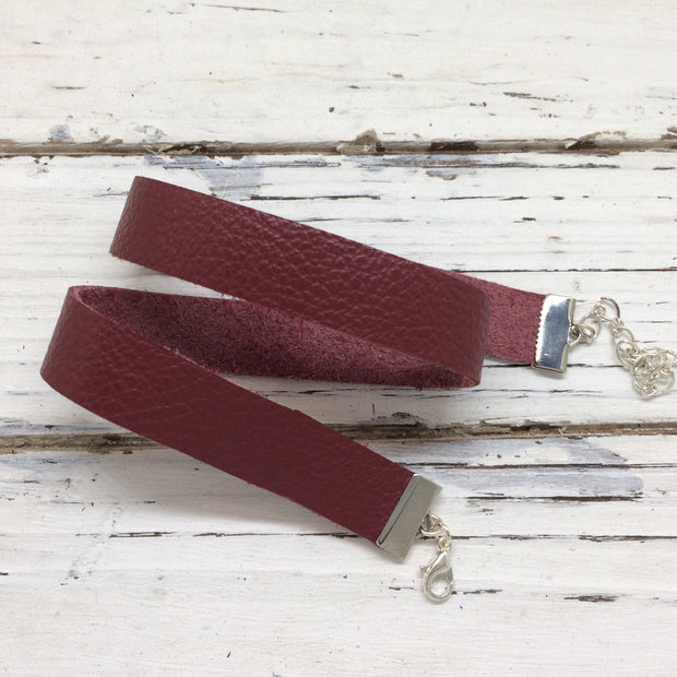 ANGEL - WRAP BRACELET / CHOKER NECKLACE - handmade by Brandy Bell Design || MATTE WINE / BURGUNDY