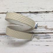 ANGEL - WRAP BRACELET / CHOKER NECKLACE - handmade by Brandy Bell Design || MATTE IVORY TEXTURED