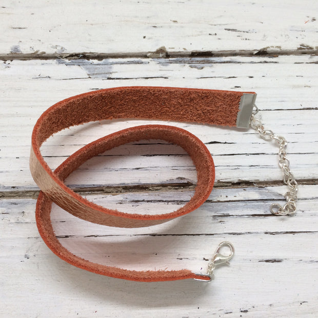 ANGEL - WRAP BRACELET / CHOKER NECKLACE - handmade by Brandy Bell Design || METALLIC ROSE GOLD