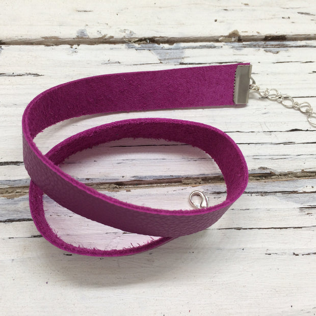 ANGEL - WRAP BRACELET / CHOKER NECKLACE - handmade by Brandy Bell Design || MATTE MAGENTA