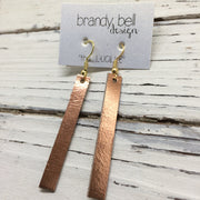 LUCILLE - Leather Earrings  ||  METALLIC COPPER
