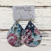 miniZOEY + ZOEY - Leather Earrings  || VINTAGE FLORAL
