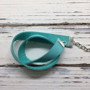 ANGEL - WRAP BRACELET / CHOKER NECKLACE - handmade by Brandy Bell Design || MATTE ROBINS EGG BLUE