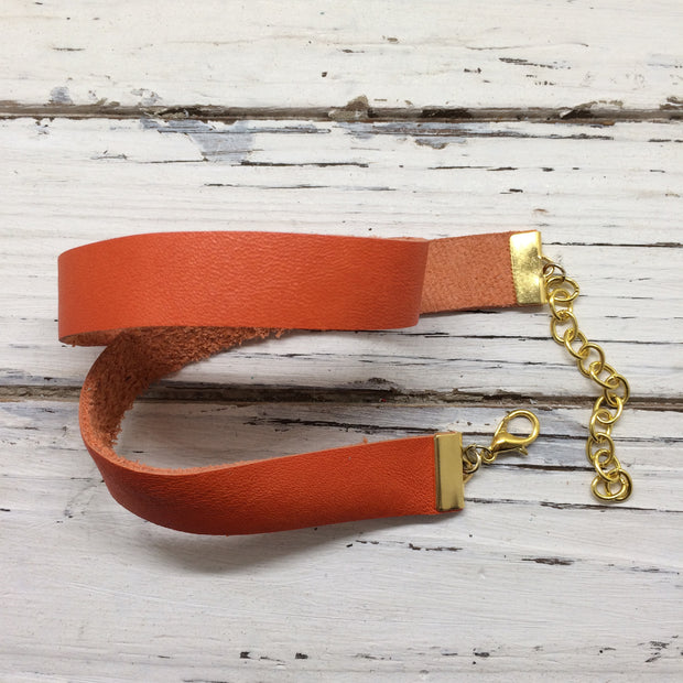 ANGEL - WRAP BRACELET / CHOKER NECKLACE - handmade by Brandy Bell Design || MATTE ORANGE