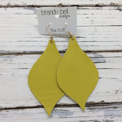 NOELLE - Leather Earrings  || MATTE CANARY YELLOW