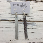 LUCILLE - Leather Earrings  ||  METALLIC SILVER