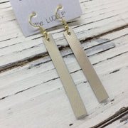 LUCILLE - Leather Earrings  ||  METALLIC CHAMPAGNE