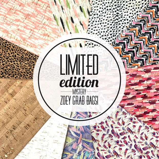 *LIMITED EDITION CORK* <br> 3pk MYSTERY ZOEY GRAB BAGS! <br> (3 sizes available!)