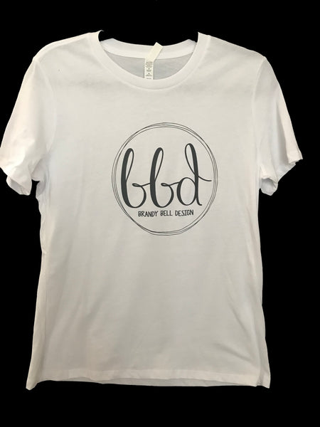 BBD T-Shirt | White/Black Relaxed Fit Ladies Tee