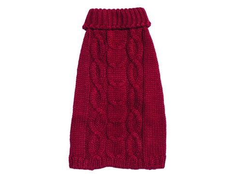 Aran Cable Sweater Red - GDH | The decorators department Store