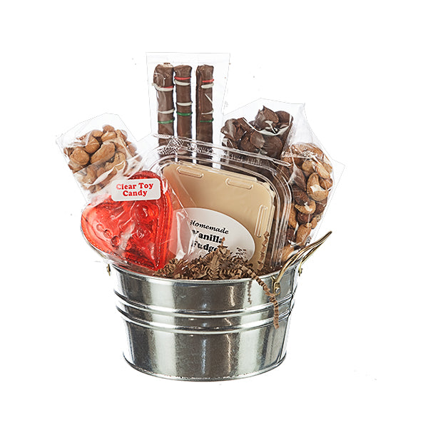 E&A Favorites Nut Lovers Assortment in Mini Silver Tin