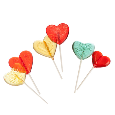 Clear Toy Lollipops - Valentines Collection