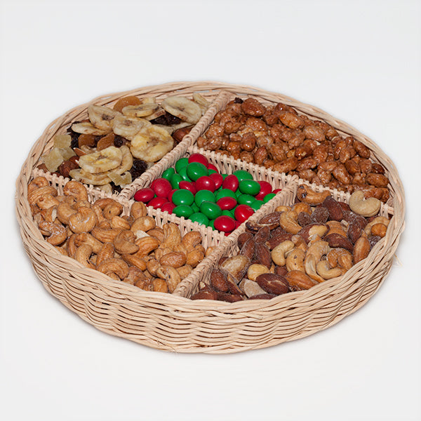 Nut wicker basket, medium, approx. 2.75 lbs