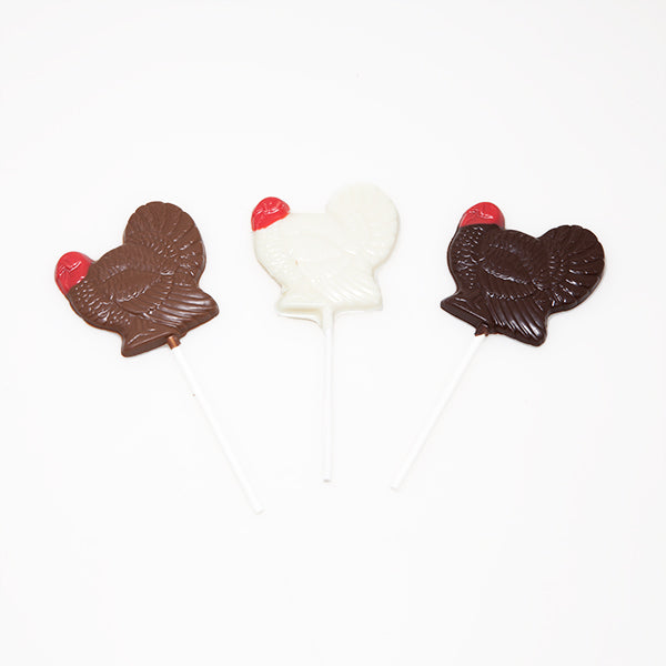 Chocolate Turkey Lollipops, 12 pcs