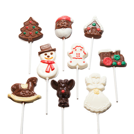 Chocolate Lollipops, Christmas, 18 pops